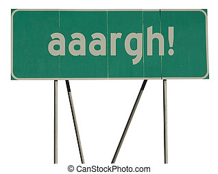 Green Road Sign - Green road sign with a isolated white...