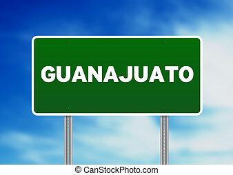 Green Road Sign - Guanajuato, Mexico