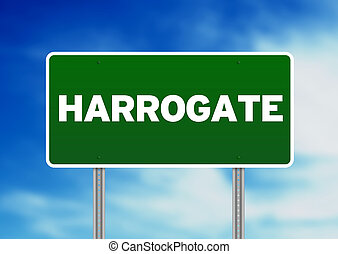 Green Road Sign -  Harrogate, England