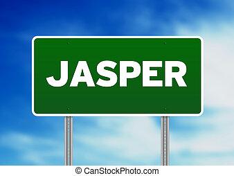 Green Road Sign - Jasper