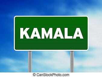 Green Road Sign - Kamala, Thailand