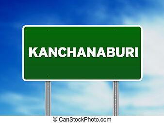 Green Road Sign - Kanchanaburi, Thailand
