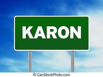 Green Road Sign - Karon, Thailand