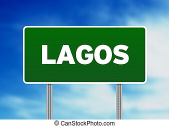 Green Road Sign - Lagos