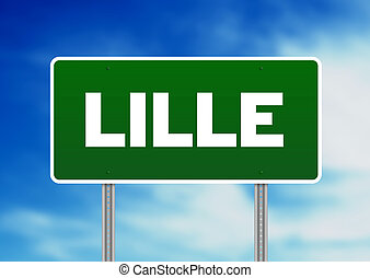 Green Road Sign -  Lille, France