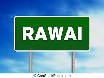Green Road Sign - Rawai, Thailand