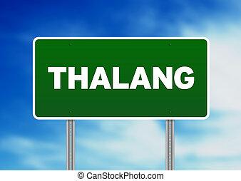 Green Road Sign - Thalang, Thailand