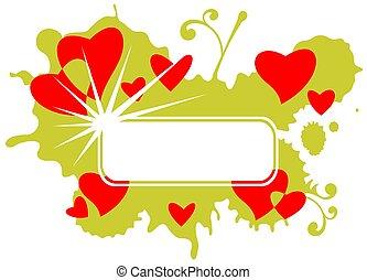 green romantic frame