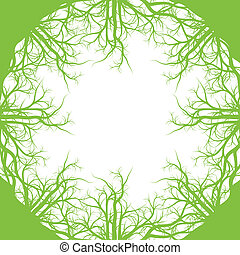 Green roots ecology background vector