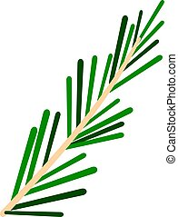 Green rosemary twig icon isolated