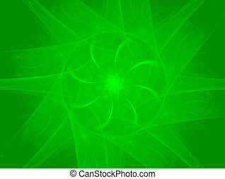 Green rotation -  abstract rendered background
