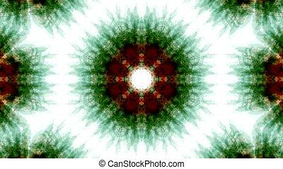 green rotation snowflake pattern