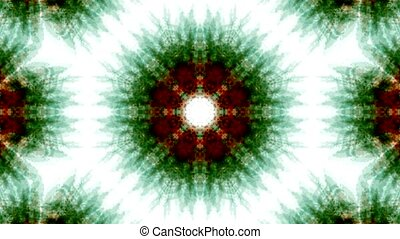 green rotation snowflake pattern