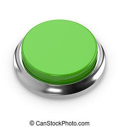 Green round blank button