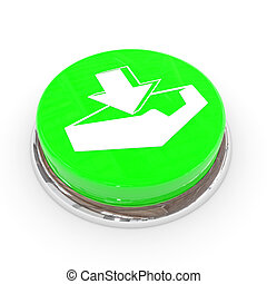 Green round button with download sign.