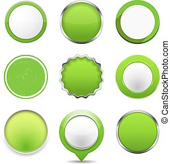 Green Round Buttons
