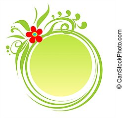 Green round frame
