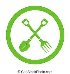 green round garden icon