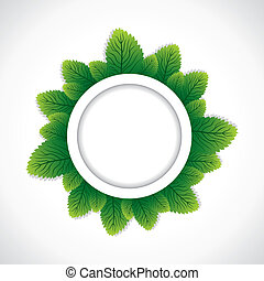 green round leaf border