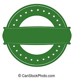 Green round stamp