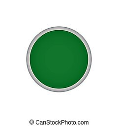 Green round vector button