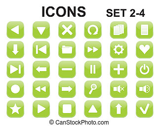green rounded square icons