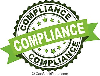 Green rubber stamp with Compliance concept