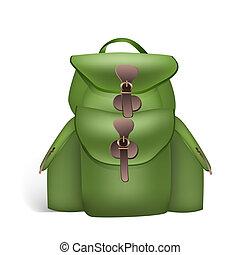green rucksack