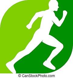 Green Run Logo Icon Design