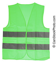 green Safety Vest - green Safety vest with reflective...