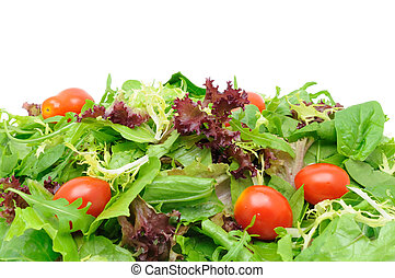 Green salad background - Background of salad leaves and...
