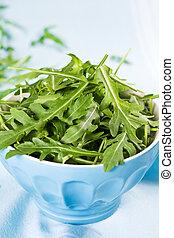Green Salad on Blue