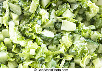 Green salad with fresh vegetables