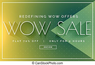 green sale discount banner poster vector design template