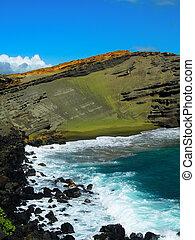 Green Sand Beach on Hawaii's Big Island