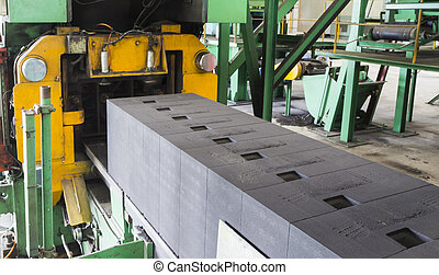 Green Sand mold in casting line