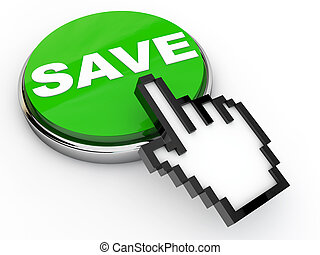 Green Save Button