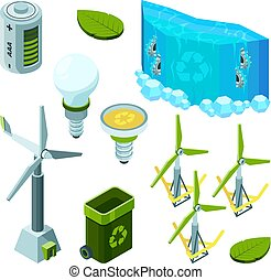 Green saving energy. Hydro power turbines ecosystem waste...