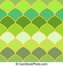 Green scales abstract seamless background.