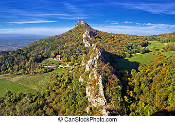 Green scenery of Kalnik mountain ridge, Prigorje, Croatia