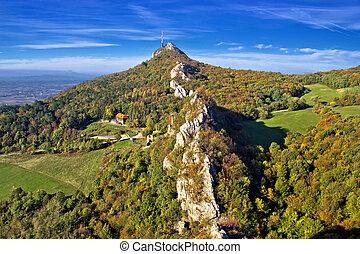 Green scenery of Kalnik mountain ridge, Prigorje, Croatia
