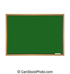 Green school blackboard vector illustration