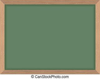 Green School Board. Clean Blackboard. Vector illustration. Accessory for teachers.