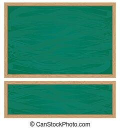 green school chalkboard