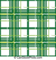 Green Scottish plaid seamless pattern. Color bright decorative background vector illustration.
