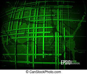 Green scratch grunge background
