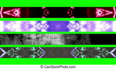 Green Screen Abstract 3rds X33 - Four Looping Abstract Green...