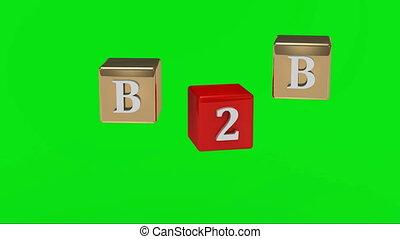 Green screen B2B inscription - Green screen. B2B inscription...