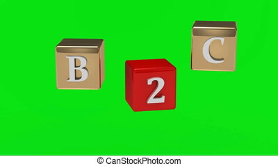 Green screen B2C inscription - Green screen. B2C inscription...