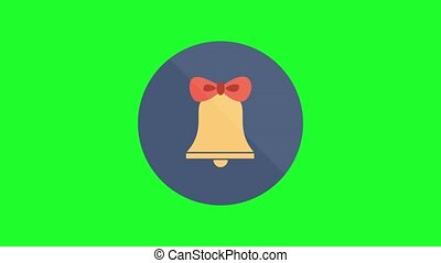 green screen , christmas icon , bell
